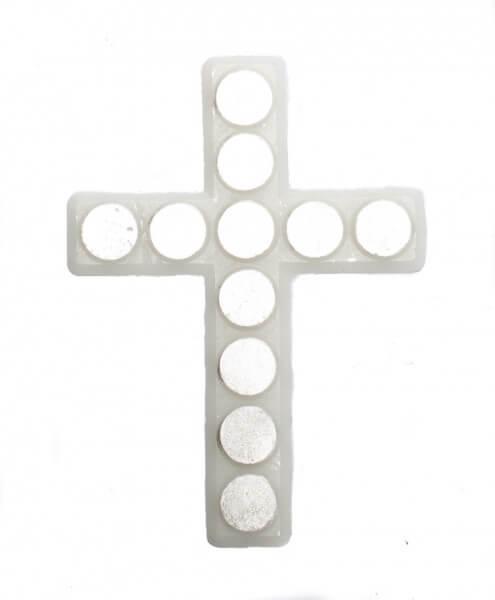 Wachssymbol - Kreuz mit Punkten