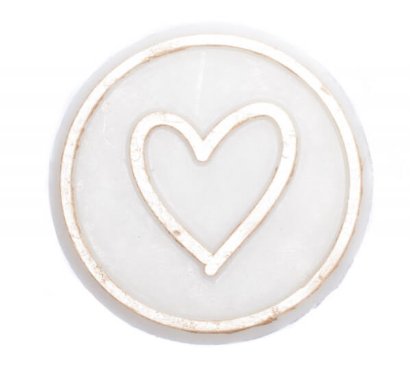 Wachssymbol - Herz mit Kreis