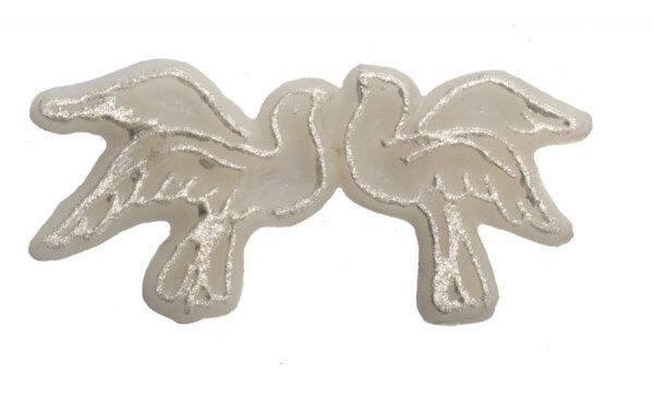 Wachssymbol zur Hochzeit - Zweifache Taube