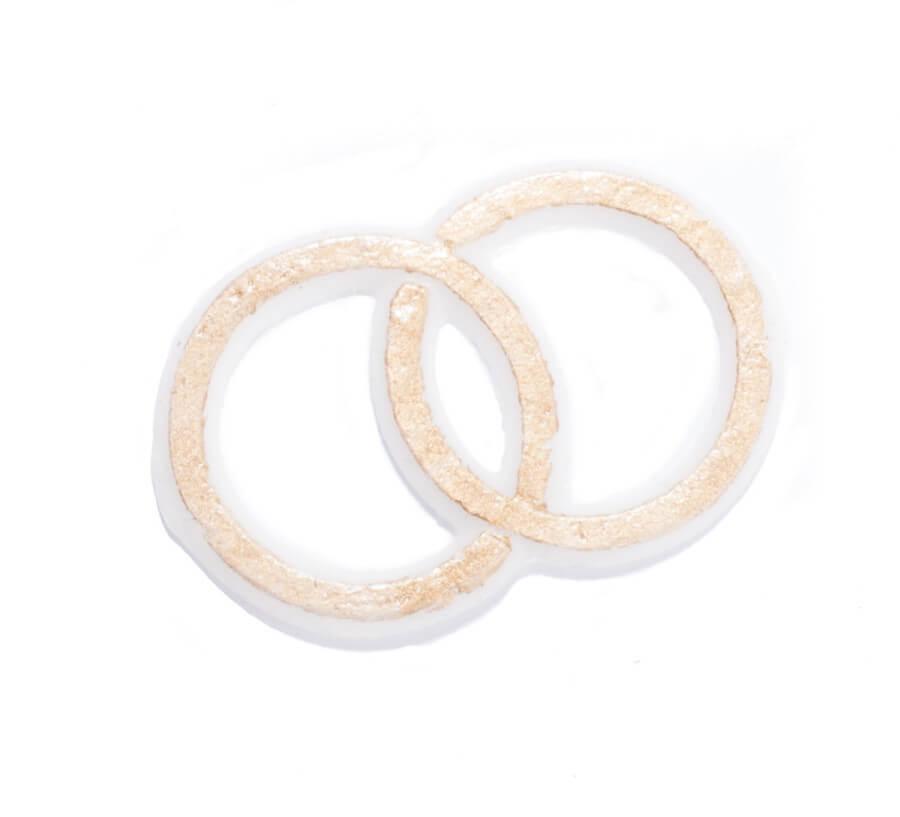 Kerzenverzierung - Hochzeit & Ringe