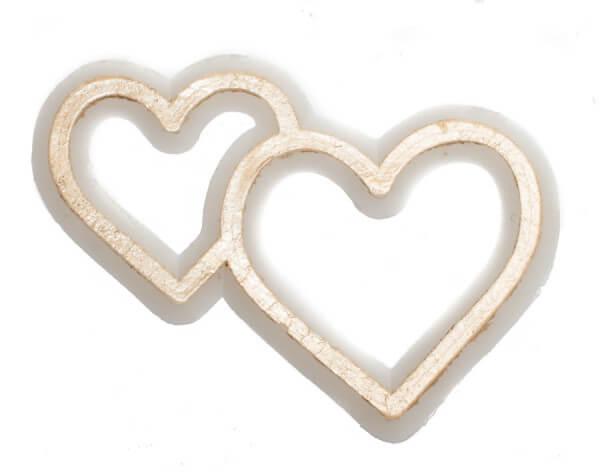 Wachssymbol - Herz mit zweifacher Kontur