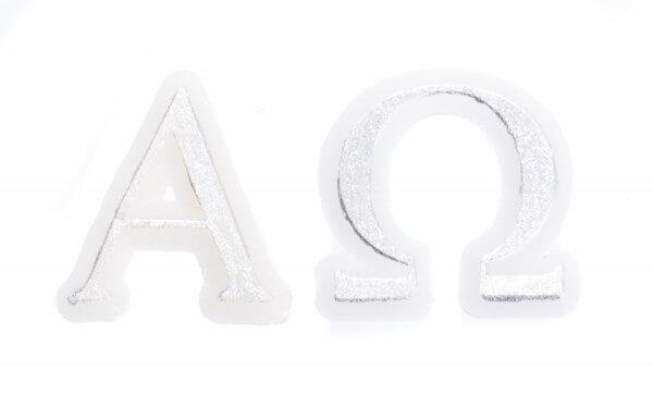 Wachssymbol - Alpha & Omega