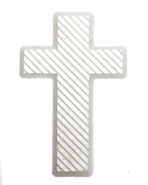 Wachssymbol - Diagonal gestreiftes Kreuz
