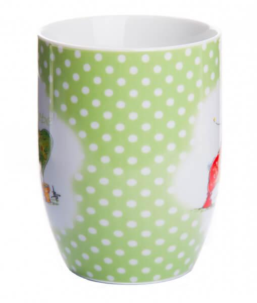 Tasse - Alles Liebe mit Grünem Herz