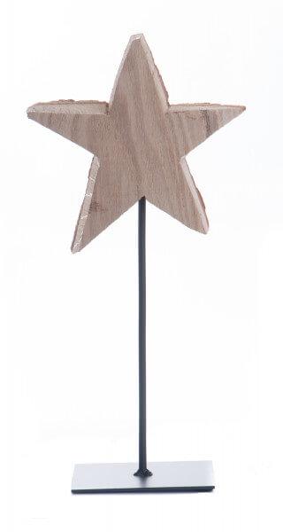 Weihnachtsdeko - Holzstern auf Stab