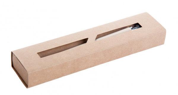 Kurgelschreiber - Holz mit Fischsymbol