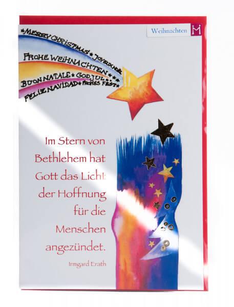 Weihnachtskarte - Im Stern von Bethlehem