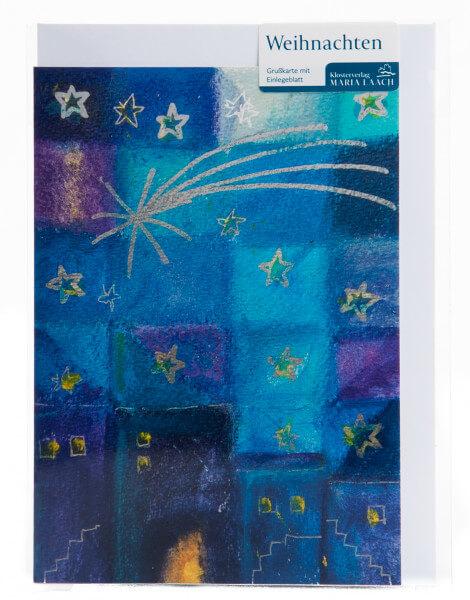 Weihnachtskarte - Sternennacht