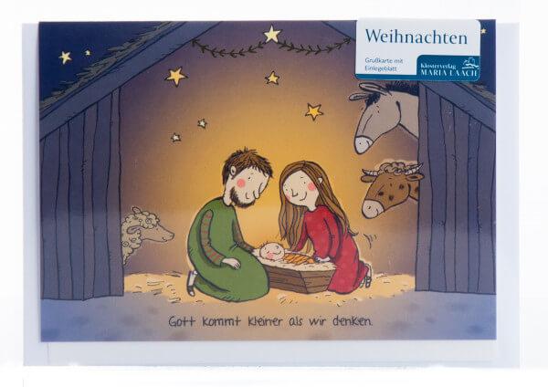 Weihnachtskarte - Gott kommt kleiner als wir denken