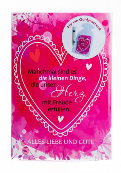 Geschenkkarte - Alles Liebe und Gute