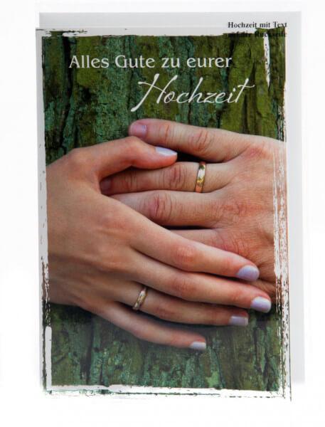 Karte zur Hochzeit - Zwei Hände