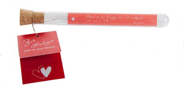 Glasröhrchen - Erfüll dir einen Wunsch zur Hochzeit