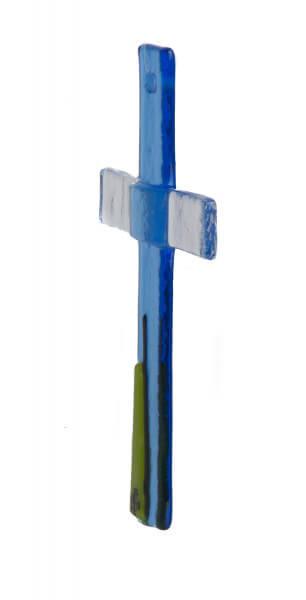 Glaskreuz - Blau & Applikation