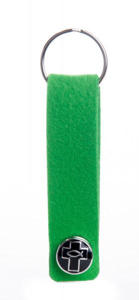 Schlüsselanhänger - Filz und Druckknopf
