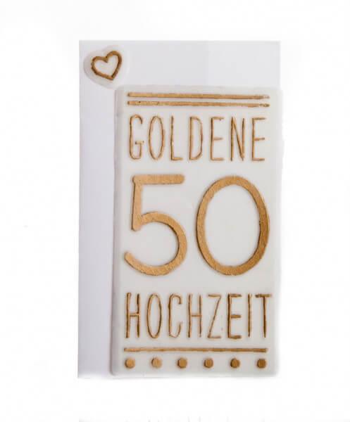 Schriftzug aus Wachs - Goldene Hochzeit