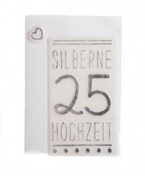 Schriftzug aus Wachs - Silberne Hochzeit