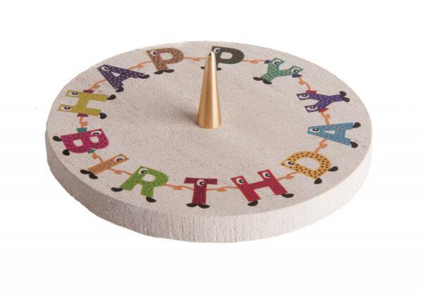 Kerzenständer - Happy Birthday & Kalksandstein