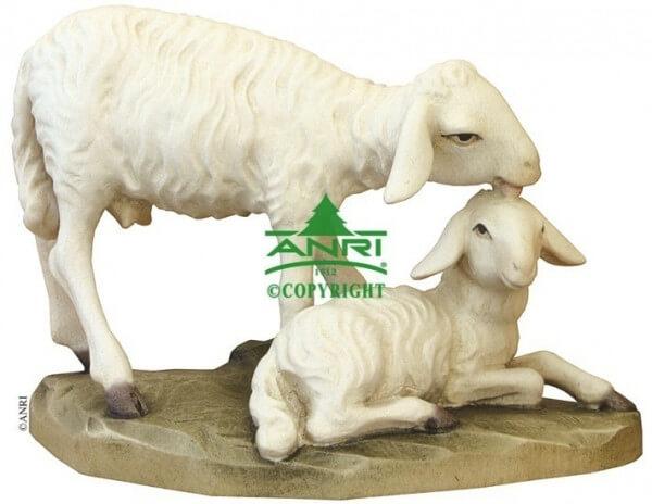 Ulrich Bernardi Krippe - Schaf mit Lamm stehend