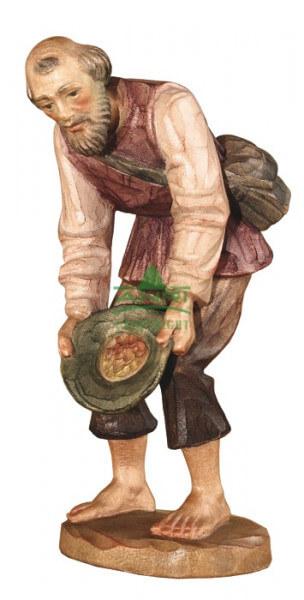 Karl-Kuolt-Krippe Lindenholz - Hirte mit Hut - Coloriert & 15 cm