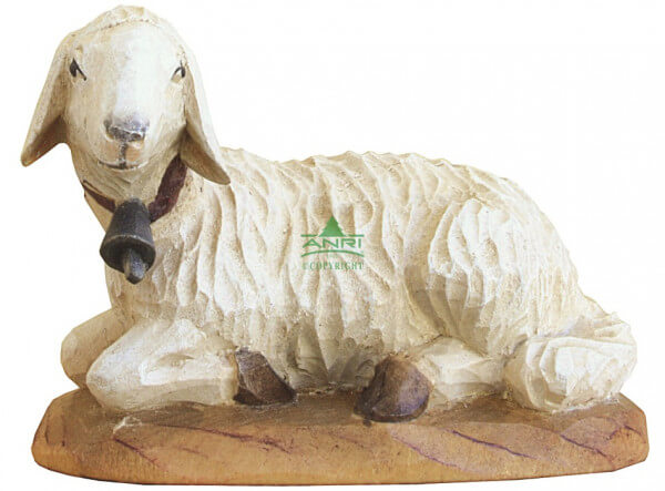 Karl-Kuolt-Krippe Lindenholz - Schaf liegend links