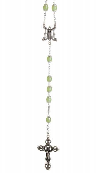 Rosenkranz - Hellgrüne Perle & Groß