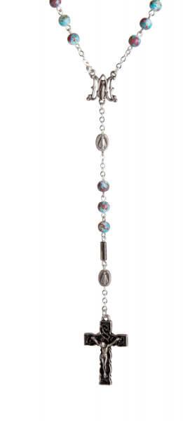 Rosenkranz - Farbig marmorierte Perle
