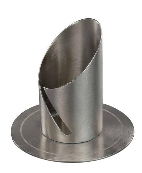 Kerzenständer - Moderne Form 4 cm & Silberfarben