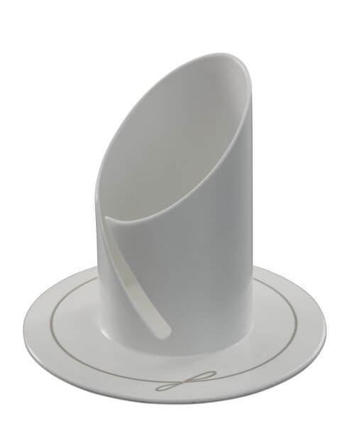 Kerzenständer - Moderne Form 4 cm & Weiß