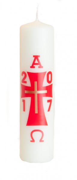 Osterkerze - Modernes Kreuz