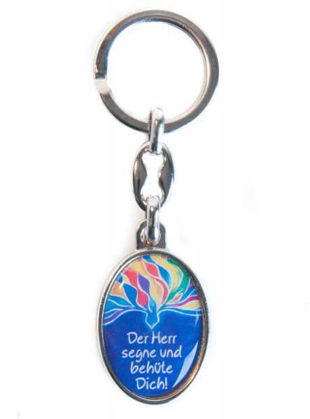 Schlüsselanhänger - Farbige Taube