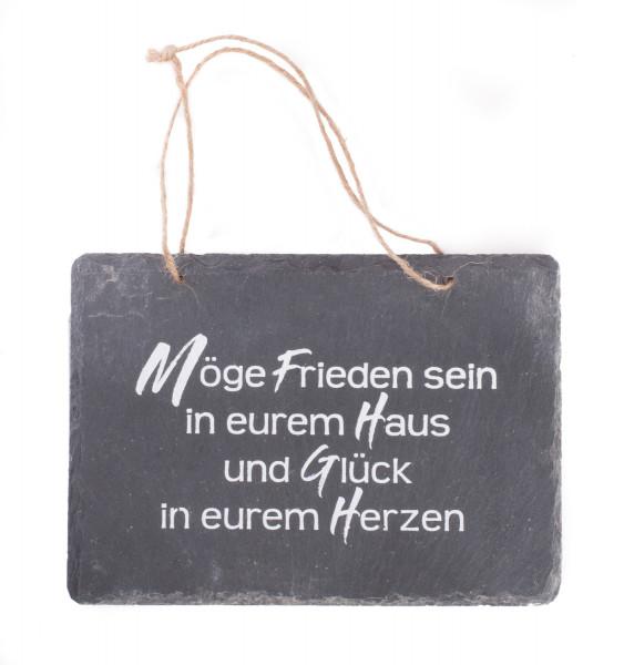 Schiefer-Haussegen - Möge Frieden sein in eurem Haus