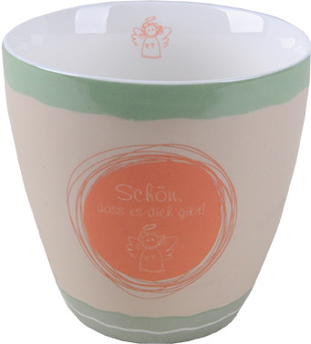 Porzellan-Tasse - Schön, dass es dich gibt