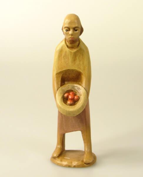 Gelenberg Krippe - Hirt mit Früchten - 14 cm