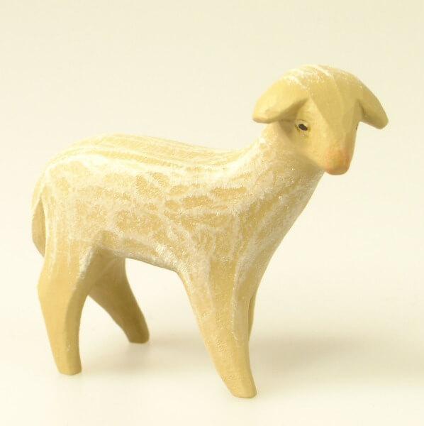 Gelenberg Krippe - stehendes Schaf,rückwärts gewandt - 14 cm