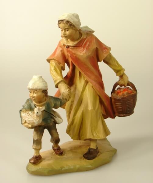 Gelderland Krippe - Frau mit Kind und Korb