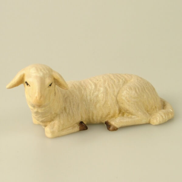 Karl-Kuolt-Krippe - Schaf liegend