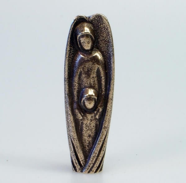 Handschmeichler - Bronzeengel mit Kind