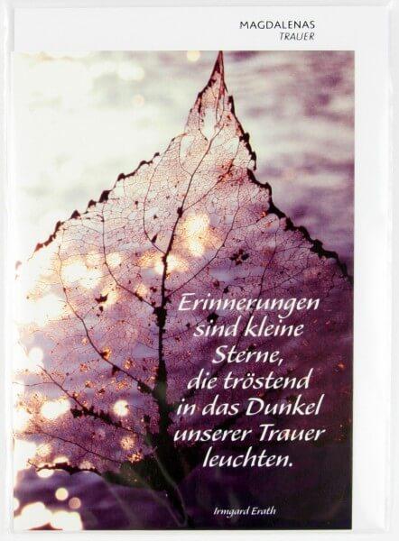 Trauerkarte - Erinnerungen