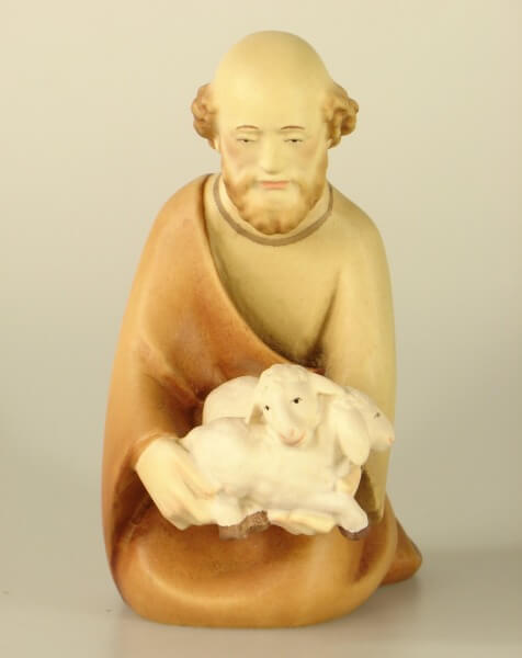 Leonardo-Krippe - Hirte kniend mit Schaf