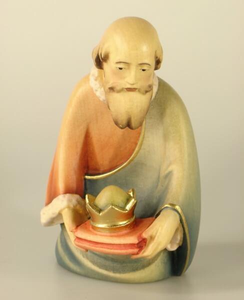 Leonardo-Krippe - König kniend