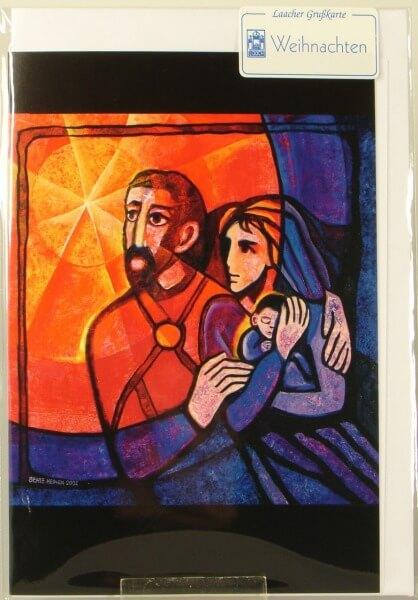Weihnachtskarte - Heilige Familie