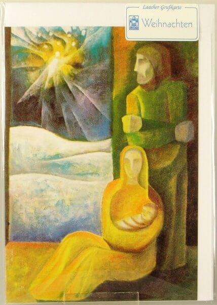 Religiöse Weihnachtskarten.Weihnachtskarte Geburt Jesu Artikel Nr Gwe166