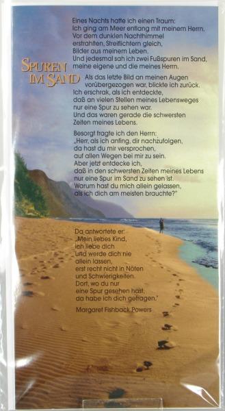 Neutrale Karte - Spuren im Sand