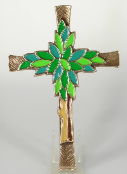 Bronzekreuz - Lebensbaum & Farbig