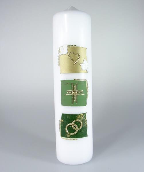 Tischkerze - Grüne Symbole