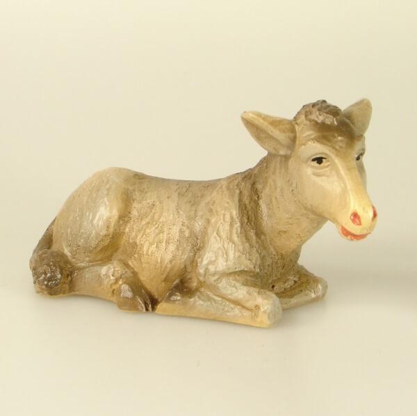 Bayrische Künstler-Krippe - Esel liegend