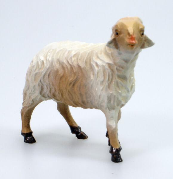 Bayrische Künstler-Krippe - Schaf stehend rechts
