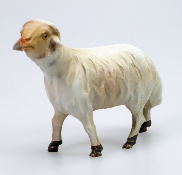 Bayrische Künstler-Krippe - Schaf stehend links
