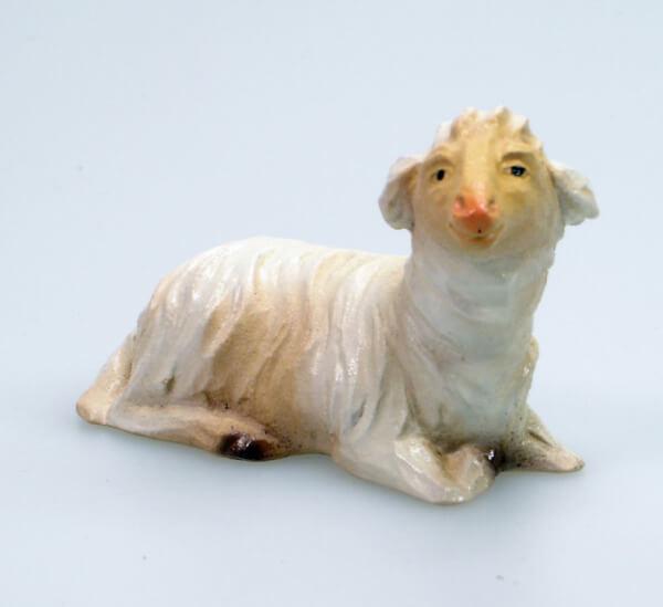 Bayrische Künstler-Krippe - Schaf liegend rechts