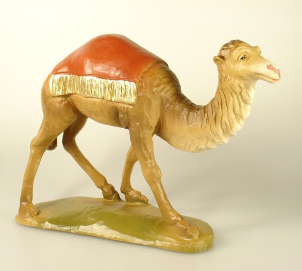 Bayrische Künstler-Krippe - Kamel stehend